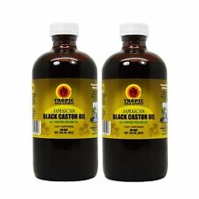 "Tropic Isle Living Jamaican Black Castor Oil 8oz ""Pack of 2"" /w Applicator"