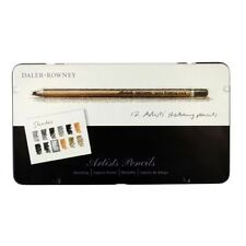Daler Rowney Artist Sketching Pencil Set of 12 Presented in Metal Tin