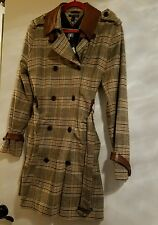 tommy hilfiger Trench Coat - Large wool with leather trim