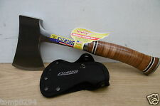 ESTWING E24A LEATHER GRIP HAND AXE HATCHET + FABRIC SHEATH