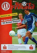 Programm 2001/02 SF Oestrich Iserlohn - VfL Bochum Am.