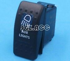 Carling ARB Narva Style Rocker Switch AUX LIGHTS Blue LED Boat Marine WD 12V 24V