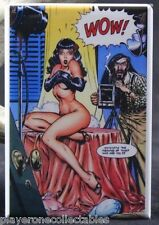 """Sexy Bettie Page Pinup Girl 2"""" X 3"""" Fridge Magnet. Rocketeer Adventures #1"""