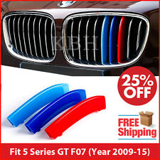 M-Tech Kidney Grille 3 Color Cover Stripes Clip for BMW 5 Series GT F07 2009-15