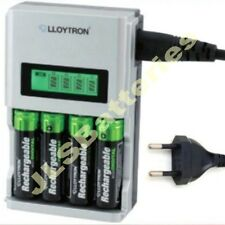 FAST 1h LCD  BATTERY CHARGER  Euro EU Plug for AA AAA Rapid 1 hour