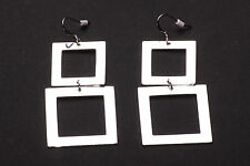 Stunning Ladies Large Square Drop Earrings Unique Classic Office Wear (Zx63/97)