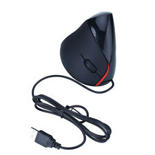 Ergonomic Wired Vertical Optical Mouse Mice For Computer PC Laptop Black