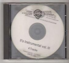 (FZ770) It's Instrumental Vol III, 4 tracks - DJ CD
