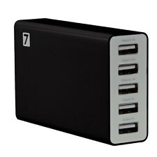 25 Watt 5V 5A 5 Port Fast USB Wall Charger Desktop Smart Charging Station Hub UK