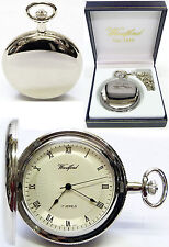 Woodford Hunter Pocket Watch, 17 Jewel CP Radial Face with Free Engraving (1054)