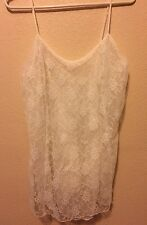"From Victoria Secrets ""Bridal Line""  Off White Lace Nightie. Sz LG NWOT"