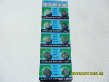 10 X LR44 AG13 A76 BATTERIES BATTERY 1.55V EXP12/2020 2,4,20 50 100 AVAIL C