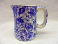 Blue olde England chintz mini cream jug pitcher by Heron Cross Pottery