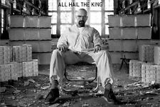 BREAKING BAD POSTER ~ ALL HAIL THE KING 24x36 TV Bryan Cranston