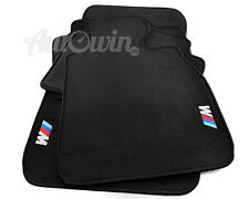Black Floor Mats For BMW 3 Series E90 E90LCI With ///M Emblem Velcro Clip RHD AU