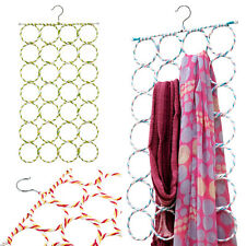 New 28 Ring Slots Hole Design Scarf Belt Tie Hanger Closet Organizer Holder Hook