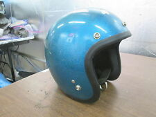 Vintage Shoei 1966 DS D3 D-3 Blue Metal Flake Motocross 5 Snap Helmet Size Small