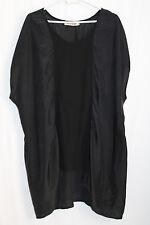 cocon.commerz PRIVATSACHEN EGOSCHO Tunika aus Effektseide in schwarz Größe 2
