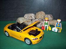 Playmobil Herpa Playcar BMW Z4, sonnengelb, mit Zubehör, ohne OVP!