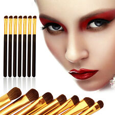 7Pcs Eyeshadow Eye Shadow Beauty Makeup Natural Horse Hair Brushes Set Black S5