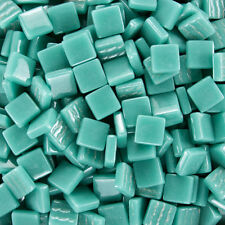 12mm Mosaic Glass Tiles - 4 Ounces About 90 Tiles - Teal #2