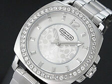 NWT Coach Women's Watch Silver SS Bracelet & Glitz Mini BOYFRIEND 14501699 $250
