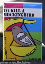 "To Kill a Mockingbird 2"" X 3"" Fridge / Locker Magnet. Harper Lee."
