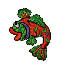 ID 0139 Tropical Fish Patch Hawaii Swimming DIY Embroidered Iron On Applique
