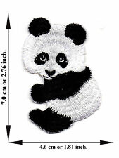Panda Animal Zoo Cartoon Kids Hapy Fun Smile Logo Applique Iron on Patch Sew