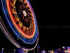 PHOTO TIME LAPSE NIGHT SCENE FERRIS WHEEL FAIRGROUND LUNA POSTER PRINT BMP10436