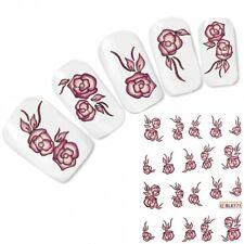 Nail Art Aufkleber Tattoo Rose Nagel Sticker Flower Blume Neu!