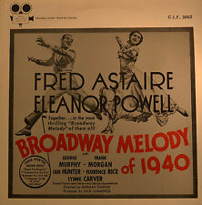 """Fred Astaire eleano Powell-Broadway Melody of 1940 12"""" LP (615)"""