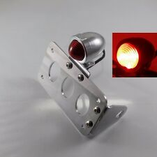 Chrome Bullet SIDE MOUNT LICENSE PLATE BRAKE STOP TAIL LIGHT FOR HARLEY Dyna XL