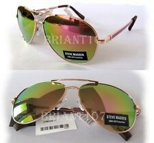 NWT STEVE MADDEN Womens Sunglasses SM962123 Rose Gold/multi-color mirror $50.00