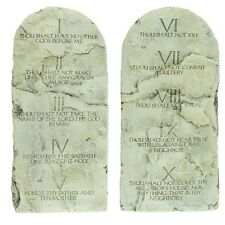 10 Ten Commandments Tablets Cast Stone Tablet Set Christian Gift Home Wall Decor