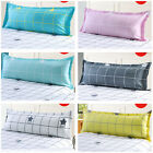 Grid Pattern Couple Body Sofa Bed Sleep Protector Case Pillowcase Pillow Cover