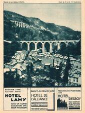 MOREZ VIADUC DOUCIER HOTEL LAMY ST AMOUR ALLIANCE DESSOY MOIRANS PUBLICITE 1932