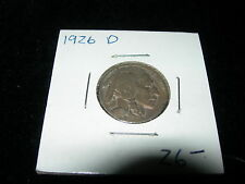 Antique Vintage 1926 D Buffalo Nickel Coin VF