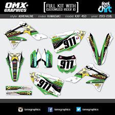 Kawasaki KX 450F stickers decals graphic kit 2013 2014 2015 AD