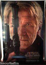 Cinema Banner: STAR WARS THE FORCE AWAKENS 2015 (Han) Harrison Ford Adam Driver