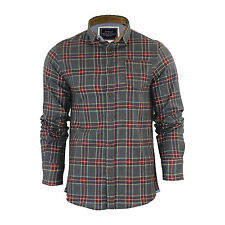 Mens Check Shirt Brave Soul Edvard Flannel Brushed Cotton Long Sleeve Casual Top