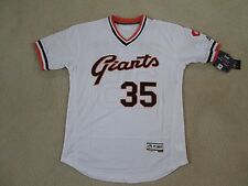 MLB SF GIANTS #35 Brandon CRAWFORD P/O Retro White Jersey Men L NEW NICE!