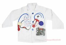 Halloween White Medical Doctor Surgery Operation Kid Uniform Costume 9C Set 3-8Y