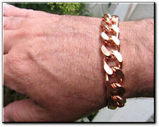 Solid Copper Men's 10 Inch Link Bracelet CB639G - 5/8 of an inch wide - Thick.