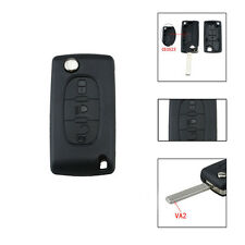 3 Flip Button Shell Remote Key Car Cover Fob For Citroen C2 C3 C4 C5 C6 C8 Auto