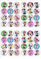 MINNIE MOUSE EDIBLE RICE PAPER BIRTHDAY PARTY FAIRY CUPCAKE CAKE TOPPERS x 48