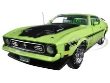 1971 FORD MUSTANG MACH 1 429 RAM AIR GRABBER LIME 1/18 BY AUTOWORLD AMM1069