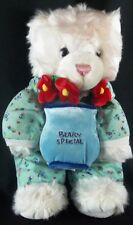 BABW Build A Bear Workshop BEARY SPECIAL White Bear Plush in Pajamas RETIRED