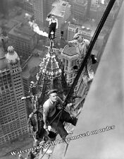 Photograph Vintage Painters Atop the Woolworth Building New York City 1926 11x14