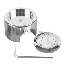 "7/8"" 1"" Motorcycle Chrome Clock For Yamaha V-Star XVS 650 1100 Custom Silverado"